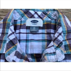 Old Navy Shirts & Tops - 🎉HP🎉. 🇺🇸Old Navy🇺🇸 Boys Plaided short sleeve